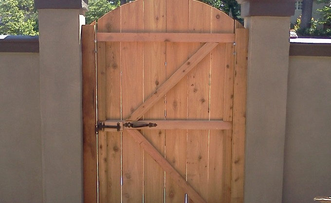 Cedar Entry Door. PrevNext & Cedar Door attached to wall